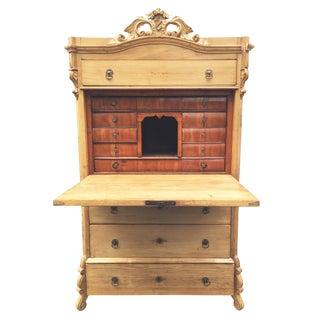Swedish Pine Secrétaire à Abattant Desk C. 1860