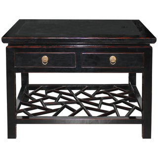 Asian Style Four-Drawer Black Coffee Table