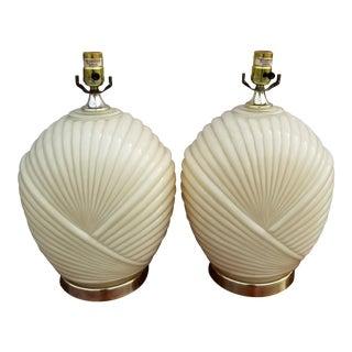 Art Deco Revival Glass Lamps - a Pair