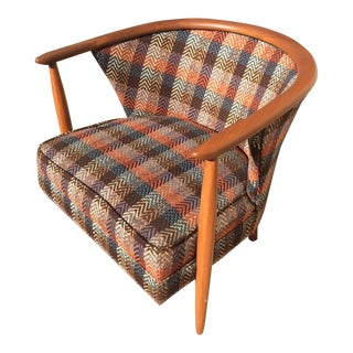 Danish Modern Style Barrel Back Lounge Chair