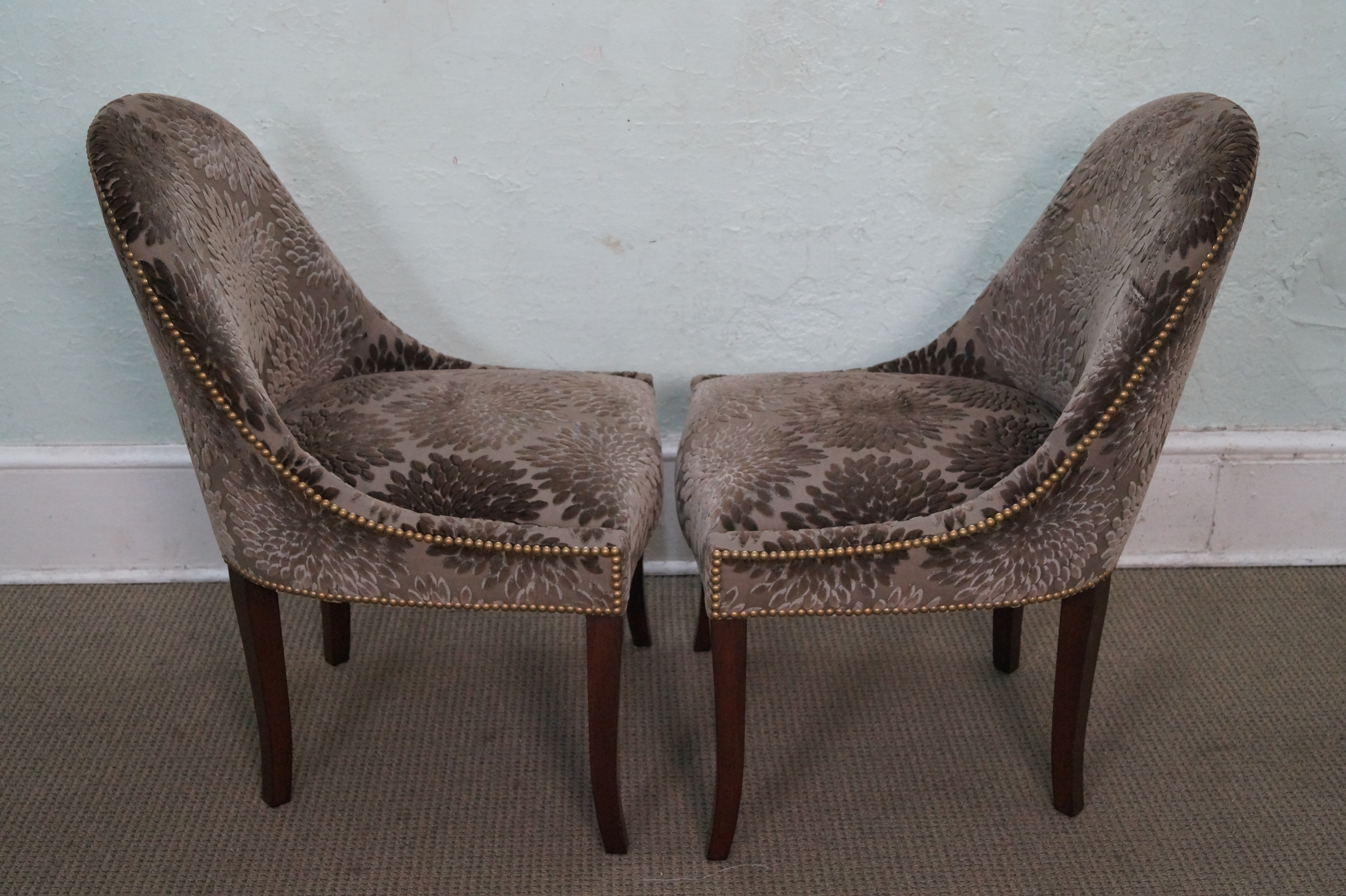 Barrel Back Regency Style Dining Chairs Set of 6