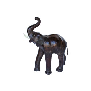 Monumental Size Leather Elephant