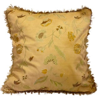 Embroidered & Zipper Pillow Cover & Down Insert
