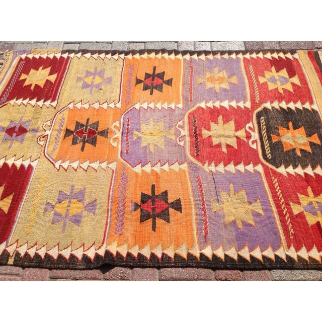 Vintage Turkish Kilim Rug - 4′2″ × 6′2″ - Image 4 of 6