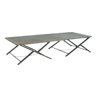Sarreid LTD Campaign Style Folding Table
