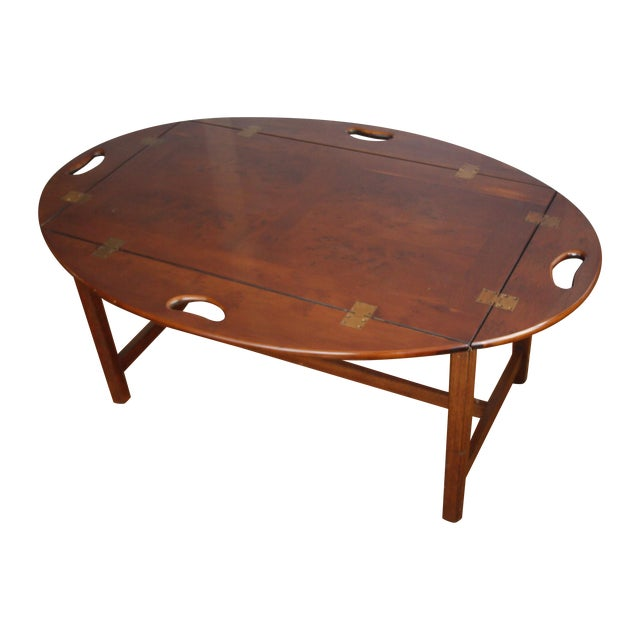 Image of Mahogany Veneer Butler Tray Table