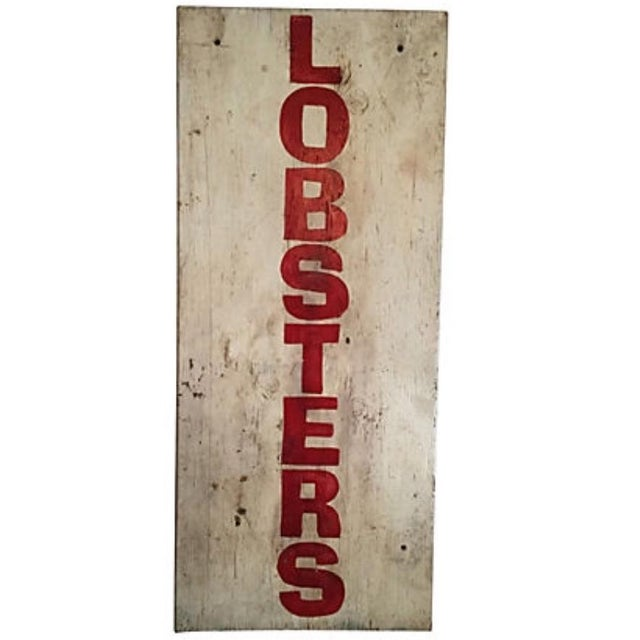 Painted Maine Lobster Stand Sign - Image 3 of 5