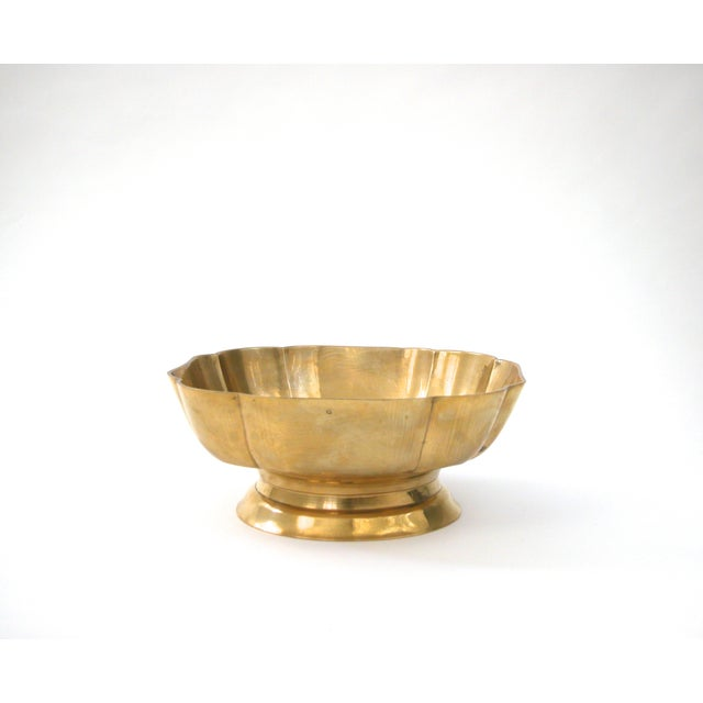 Brass Scallop Pedestal Bowl - Image 2 of 8