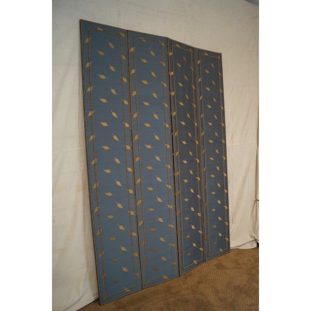 Quality Upholstered Tall Folding Screen - Image 7 of 10