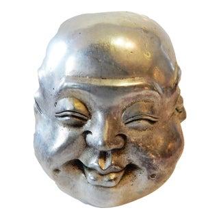 Bronze Buddha Head w/ 4 Faces