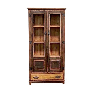 Eco-Friendly Reclaimed Solid Wood Display Cabinet