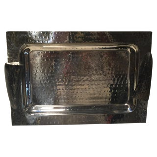 Horn Handle Silver Serving Tray
