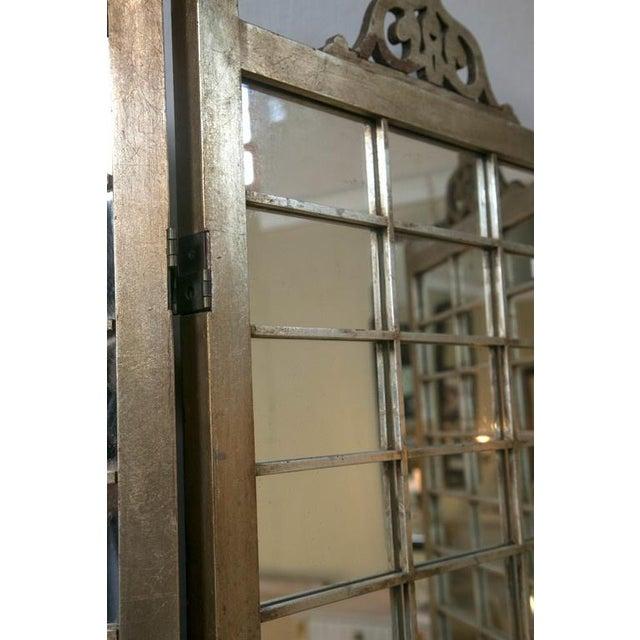Hollywood Regency Mirror & Silver Gilt Screen - Image 3 of 6