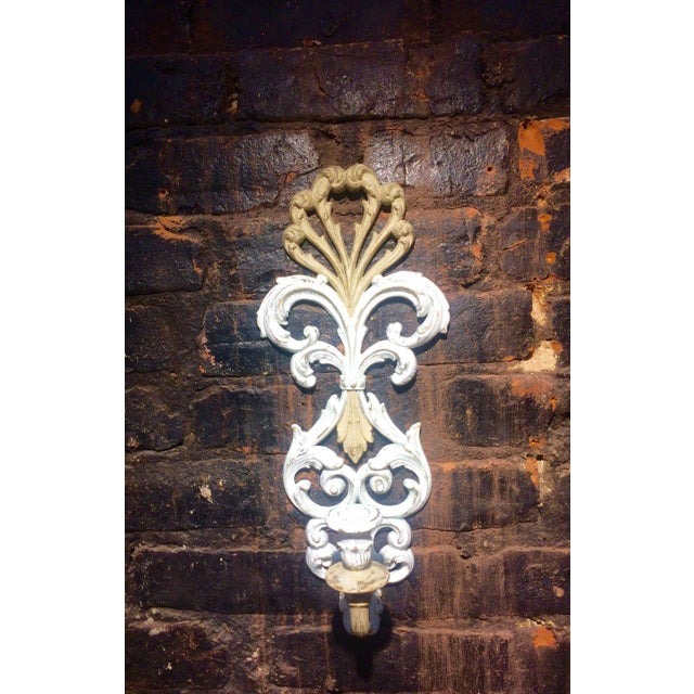 Image of Wall Clock and Candle Sconces - Set of 3