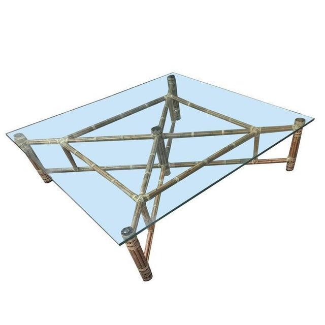 John Mcguire Bamboo Glass Square Coffee Table Chairish