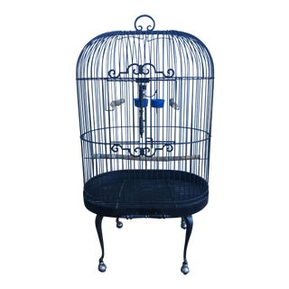 Wrought Iron Standing Bird Cage