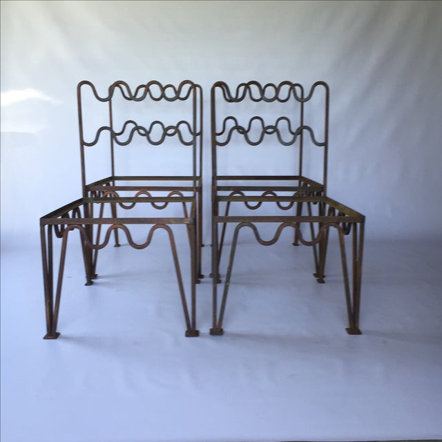 1940s Sculptural Modernist Iron Patio Chairs - 4 - Image 7 of 11
