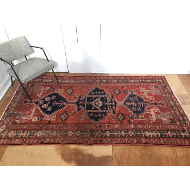 "Vintage Persian Rug 4'8""x 8'2"" - Image 4 of 7"