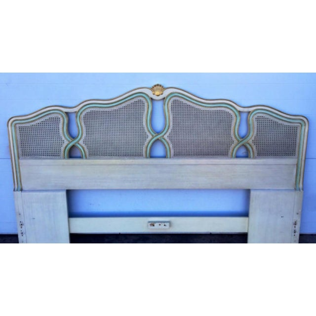 Vintage Shell Carved King Size Headboard - Image 2 of 6