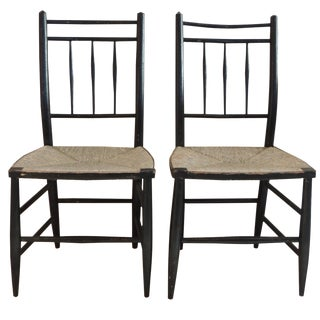 Painted Country Chairs - A Pair