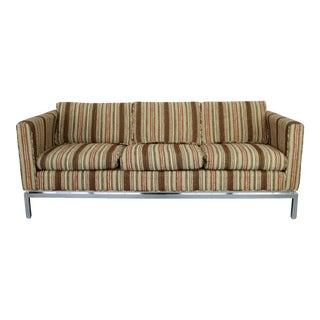 Mid-Century Modern Chrome Base Sofa
