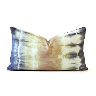 Green and Purple Tie-Dye Pillow