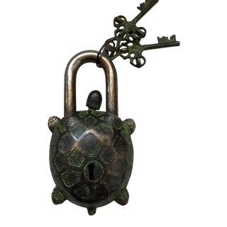 Tibetan Turtle Bronze Mystery Lock