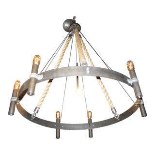 Custom Rope Chandelier Wagon Wheel