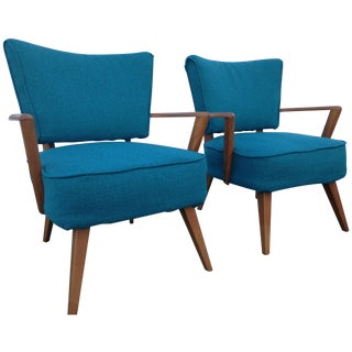 Heywood Wakefield Pull Up Arm Chair M569c -A Pair