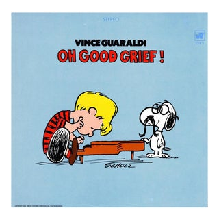 Vintage Charles Schulz Vinyl Record Art