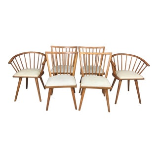 Leslie Diamond for Conant Ball Maple Dining Chairs - Set of 6