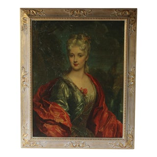 Rococo Framed Portrait Print
