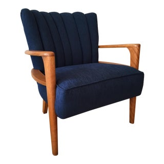 Heywood Wakefield Channel Back Armchair - Reupholstered