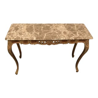 Vintaga French Style Mable Top Bench