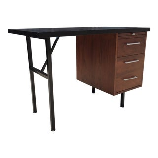 Mid-Century Modern Iron and Walnut Desk