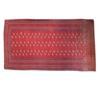 "Vintage Afghan Bokhara Carpet- 9'1"" x 15'9"""
