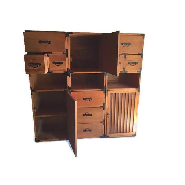 Vintage 3-Piece Tansu Style Modular Storage Unit - Image 2 of 6