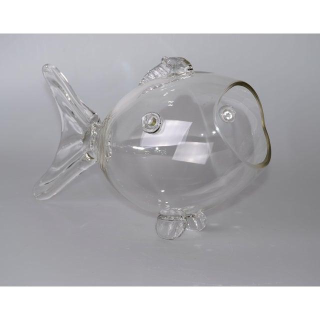 Blenko Handblown Glass Fish Candy Bowl - Image 5 of 9