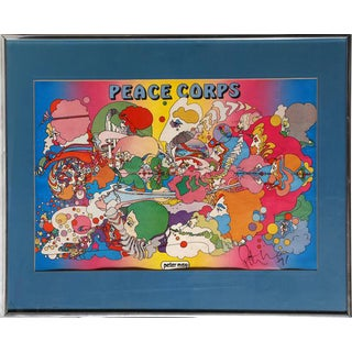 """1971 Peter Max """"Peace Corps"""" Print"""