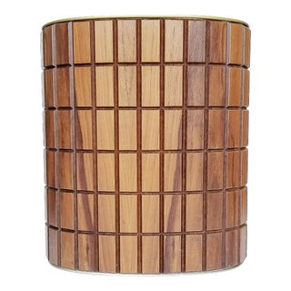 Mid-Century Danish Modern Walnut Wastebasket