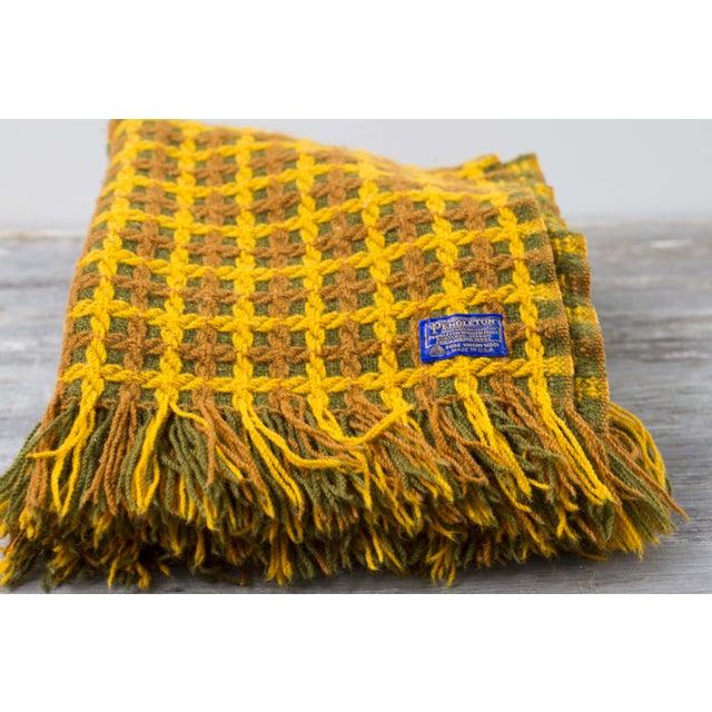 Vintage Pendleton Wool Knit Blanket - Image 5 of 7
