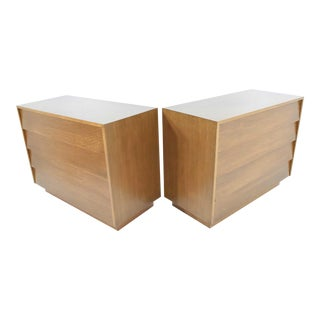 Pair of Louvered Drawer Chests or Nightstands