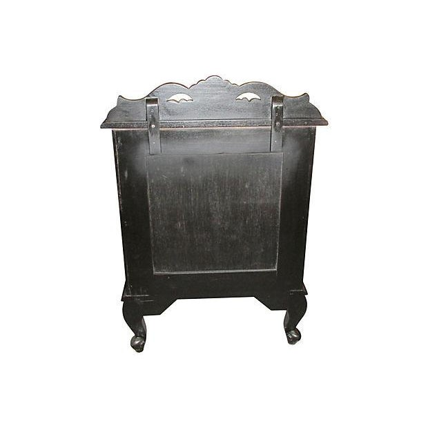 Image of 3-Drawer Ebony Nightstands - a Pair