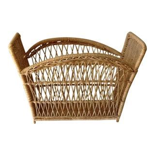 Natural Wicker File Basket