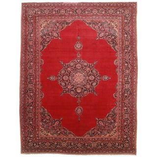 Persian Kashan Wool Rug - 10′7″ × 13′8″