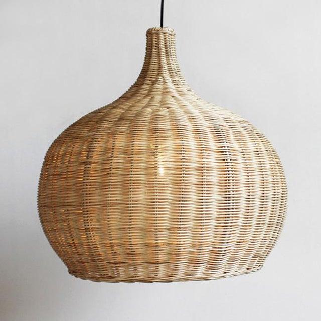 Large Raw Wicker Bell Lantern - Image 2 of 3