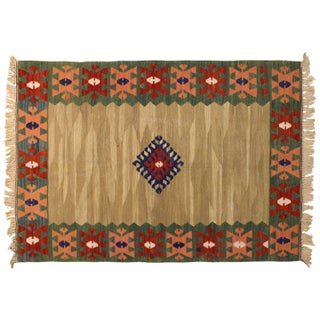 "Turkish Kilim Rug - 3'8"" x 5'6"""