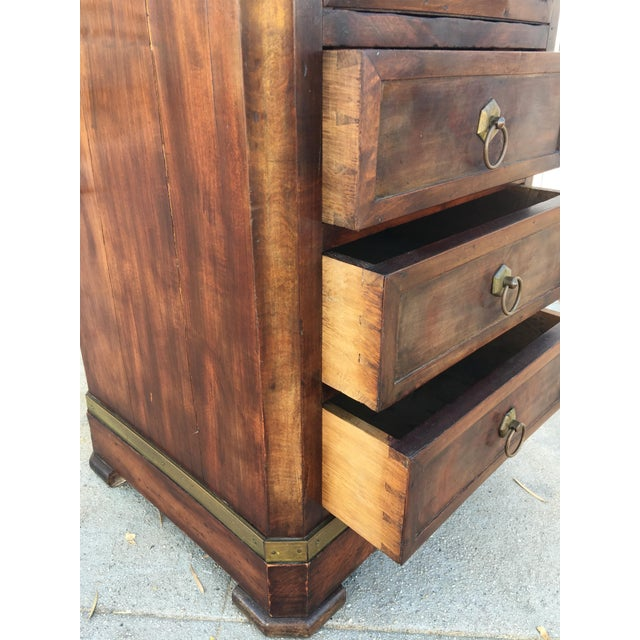 Antique Walnut & Brass Chest of Drawers - Image 6 of 11