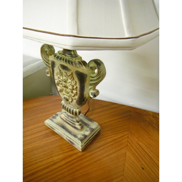 shabby chic urn accent lamp chairish. Black Bedroom Furniture Sets. Home Design Ideas