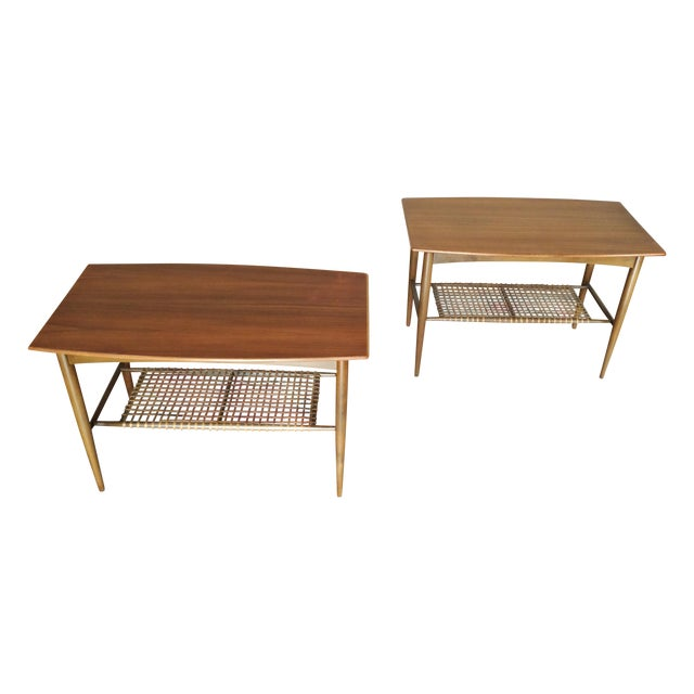 Dux Two - Tier End Tables - A Pair - Image 1 of 8